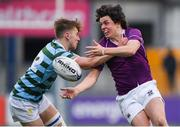 13 February 2020; Rory Morrin of Clongowes Wood College is tackled by Joshua Watson of St Gerards School during the Bank of Ireland Leinster Schools Senior Cup Second Round match between Clongowes Wood College and St Gerard's School at Energia Park in Dublin. Photo by Matt Browne/Sportsfile
