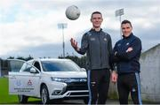 13 February 2020; Mitsubishi Motors Ireland are delighted to announce their new partnership with Dublin GAA as official vehicle sponsor. Pictured are Dublin footballers Brian Fenton, left, and Paddy Andrews at Parnell Park in Dublin. Photo by Sam Barnes/Sportsfile