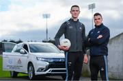 13 February 2020; Mitsubishi Motors are delighted to announce their new partnership with Dublin GAA as official vehicle sponsors. In attendance at the announcement are Dublin footballers Brian Fenton, left, and Paddy Andrews at Parknell Park in Dublin. Photo by Sam Barnes/Sportsfile