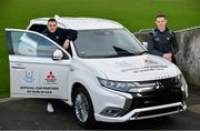 13 February 2020; Mitsubishi Motors Ireland are delighted to announce their new partnership with Dublin GAA as official vehicle sponsor. Pictured are Dublin footballers Brian Fenton, right, and Paddy Andrews at Parnell Park in Dublin. Photo by Sam Barnes/Sportsfile