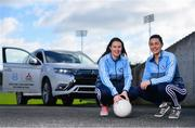 13 February 2020; Mitsubishi Motors are delighted to announce their new partnership with Dublin GAA as official vehicle sponsors. Pictured are Dublin footballers Sinéad Aherne, left, and Lyndsey Davey at Parnell Park in Dublin. Photo by Sam Barnes/Sportsfile
