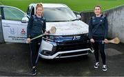 13 February 2020; Mitsubishi Motors are delighted to announce their new partnership with Dublin GAA as official vehicle sponsors. Pictured are Dublin camogie players Leah Butler, left, and Emma Flanagan at Parnell Park in Dublin. Photo by Sam Barnes/Sportsfile