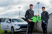 13 February 2020; Mitsubishi Motors are delighted to announce their new partnership with Dublin GAA as official vehicle sponsors. Pictured are Dublin hurlers Chris Crummey, left, and Eoghan O'Donnell at Parnell Park in Dublin. Photo by Sam Barnes/Sportsfile