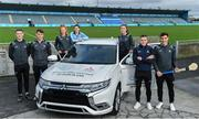 13 February 2020; Mitsubishi Motors are delighted to announce their new partnership with Dublin GAA as official vehicle sponsors. Pictured are Dublin GAA players, from left, Brian Fenton, Chris Crummey, Leah Butler, Lyndsey Davey, Emma Flanagan, Paddy Andrews, and Eoghan O'Donnell at Parnell Park in Dublin. Photo by Sam Barnes/Sportsfile