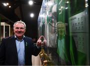13 February 2020; Former Republic of Ireland international Ray Houghton during the National Football Exhibition Launch at the County Museum in Dundalk, Co Louth. The Football Association of Ireland, Dublin City Council and The Department of Transport, Tourism and Sport have joined forces to create a National Football Exhibition as part of the build up to Ireland's Aviva Stadium playing host to four matches in the UEFA EURO 2020 Championships in June. The Exhibition is a celebration of Irish football and 60 Years of the European Championships. The Exhibition will be running in the County Museum, Dundalk, Co. Louth from February 14th – 29th. Photo by Stephen McCarthy/Sportsfile