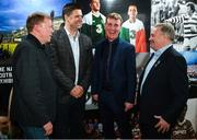 13 February 2020; In attendance, from left, former Republic of Ireland international Steve Staunton, former Republic of Ireland international and current FAI Interim Deputy Chief Executive Niall Quinn, Republic of Ireland U21 manager Stephen Kenny and former Republic of Ireland international Ray Houghton during the National Football Exhibition Launch at the County Museum in Dundalk, Co Louth. The Football Association of Ireland, Dublin City Council and The Department of Transport, Tourism and Sport have joined forces to create a National Football Exhibition as part of the build up to Ireland's Aviva Stadium playing host to four matches in the UEFA EURO 2020 Championships in June. The Exhibition is a celebration of Irish football and 60 Years of the European Championships. The Exhibition will be running in the County Museum, Dundalk, Co. Louth from February 14th – 29th. Photo by Stephen McCarthy/Sportsfile