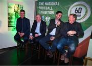 13 February 2020; In attendance, from left, Republic of Ireland U21 manager Stephen Kenny, former Republic of Ireland international Ray Houghton, former Republic of Ireland international and current FAI Interim Deputy Chief Executive Niall Quinn and former Republic of Ireland player and manager Steve Staunton during the National Football Exhibition Launch at the County Museum in Dundalk, Co Louth. The Football Association of Ireland, Dublin City Council and The Department of Transport, Tourism and Sport have joined forces to create a National Football Exhibition as part of the build up to Ireland's Aviva Stadium playing host to four matches in the UEFA EURO 2020 Championships in June. The Exhibition is a celebration of Irish football and 60 Years of the European Championships. The Exhibition will be running in the County Museum, Dundalk, Co. Louth from February 14th – 29th. Photo by Stephen McCarthy/Sportsfile