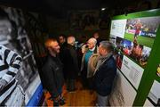 13 February 2020; Attendees during the National Football Exhibition Launch at the County Museum in Dundalk, Co Louth. The Football Association of Ireland, Dublin City Council and The Department of Transport, Tourism and Sport have joined forces to create a National Football Exhibition as part of the build up to Ireland's Aviva Stadium playing host to four matches in the UEFA EURO 2020 Championships in June. The Exhibition is a celebration of Irish football and 60 Years of the European Championships. The Exhibition will be running in the County Museum, Dundalk, Co. Louth from February 14th – 29th. Photo by Stephen McCarthy/Sportsfile