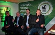 13 February 2020; Former Republic of Ireland player and manager Steve Staunton, right, with, from left, Republic of Ireland U21 manager Stephen Kenny, former Republic of Ireland international Ray Houghton and former Republic of Ireland international and current FAI Interim Deputy Chief Executive Niall Quinn during the National Football Exhibition Launch at the County Museum in Dundalk, Co Louth. The Football Association of Ireland, Dublin City Council and The Department of Transport, Tourism and Sport have joined forces to create a National Football Exhibition as part of the build up to Ireland's Aviva Stadium playing host to four matches in the UEFA EURO 2020 Championships in June. The Exhibition is a celebration of Irish football and 60 Years of the European Championships. The Exhibition will be running in the County Museum, Dundalk, Co. Louth from February 14th – 29th. Photo by Stephen McCarthy/Sportsfile
