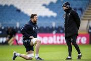 14 February 2020; Josh Murphy and Backs coach Felipe Contepomi during the Leinster Rugby captains run at the RDS Arena in Dublin. Photo by Ramsey Cardy/Sportsfile