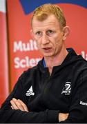 14 February 2020; Head coach Leo Cullen during a Leinster Rugby press conference at the MS Ireland Care Centre in Dublin. Photo by Ramsey Cardy/Sportsfile