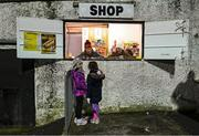 14 February 2020; Young supporters make a purchase at the shop prior to the SSE Airtricity League Premier Division match between Dundalk and Derry City at Oriel Park in Dundalk, Louth. Photo by Stephen McCarthy/Sportsfile