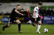 14 February 2020; Cammy Smith of Dundalk in action against Conor McCormack of Derry City during the SSE Airtricity League Premier Division match between Dundalk and Derry City at Oriel Park in Dundalk, Louth. Photo by Ben McShane/Sportsfile