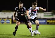 14 February 2020; Cammy Smith of Dundalk in action against Conor Clifford of Derry City during the SSE Airtricity League Premier Division match between Dundalk and Derry City at Oriel Park in Dundalk, Louth. Photo by Ben McShane/Sportsfile
