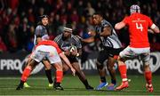 14 February 2020; Lusanda Badiyana of Isuzu Southern Kings in action against James Cronin of Munster during the Guinness PRO14 Round 11 match between Munster and Isuzu Southern Kings at Irish Independent Park in Cork. Photo by Brendan Moran/Sportsfile