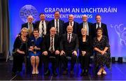 14 February 2020; The McGovern Family of Burren GAA, Down, are presented with the Dermot Earley Family Award by Uachtarán Chumann Lúthchleas Gael John Horan and Maolmhuire Tynan, Head of Public Affairs AIB, during the GAA President's Awards at Croke Park in Dublin. Photo by Piaras Ó Mídheach/Sportsfile