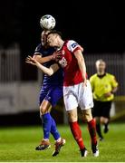14 February 2020; Michael O'Connor of Waterford in action against Luke McNally of St Patrick's Athletic during the SSE Airtricity League Premier Division match between St Patrick's Athletic and Waterford at Richmond Park in Dublin. Photo by Harry Murphy/Sportsfile