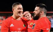 14 February 2020; Dan Goggin, left, and Kevin O'Byrne of Munster after the Guinness PRO14 Round 11 match between Munster and Isuzu Southern Kings at Irish Independent Park in Cork. Photo by Brendan Moran/Sportsfile
