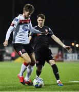 14 February 2020; Will Patching of Dundalk and Stephen Mallon of Derry City during the SSE Airtricity League Premier Division match between Dundalk and Derry City at Oriel Park in Dundalk, Louth. Photo by Ben McShane/Sportsfile