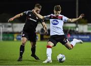 14 February 2020; Cammy Smith of Dundalk and Conor Clifford of Derry City during the SSE Airtricity League Premier Division match between Dundalk and Derry City at Oriel Park in Dundalk, Louth. Photo by Ben McShane/Sportsfile