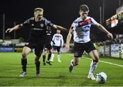 14 February 2020; Cammy Smith of Dundalk and Conor McCormack of Derry City during the SSE Airtricity League Premier Division match between Dundalk and Derry City at Oriel Park in Dundalk, Louth. Photo by Ben McShane/Sportsfile