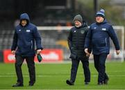 15 February 2020; Match delegates Paddy Dempsey, Paddy McGrath and Nigel Gaffney prior to the SSE Airtricity League Premier Division match between Bohemians and Shamrock Rovers at Dalymount Park in Dublin. Photo by Seb Daly/Sportsfile