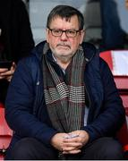 15 February 2020; Former FAI President Donal Conway in attendance ahead of the SSE Airtricity League Premier Division match between Bohemians and Shamrock Rovers at Dalymount Park in Dublin. Photo by Stephen McCarthy/Sportsfile