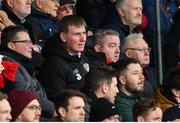 15 February 2020; Republic of Ireland U21 manager Stephen Kenny watches on during the SSE Airtricity League Premier Division match between Bohemians and Shamrock Rovers at Dalymount Park in Dublin. Photo by Stephen McCarthy/Sportsfile