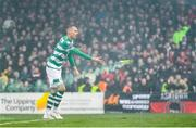15 February 2020; Graham Burke of Shamrock Rovers removes a flare from the pitch during the SSE Airtricity League Premier Division match between Bohemians and Shamrock Rovers at Dalymount Park in Dublin. Photo by Seb Daly/Sportsfile