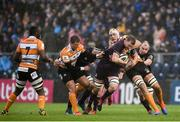 15 February 2020; Ross Molony of Leinster is tackled by JP du Preez of Toyota Cheetahs during the Guinness PRO14 Round 11 match between Leinster and Toyota Cheetahs at the RDS Arena in Dublin. Photo by Ramsey Cardy/Sportsfile