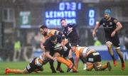 15 February 2020; Rob Kearney of Leinster is tackled by Benhard Janse van Rensburg, left, and Charles Marais of Toyota Cheetahs during the Guinness PRO14 Round 11 match between Leinster and Toyota Cheetahs at the RDS Arena in Dublin. Photo by Ramsey Cardy/Sportsfile
