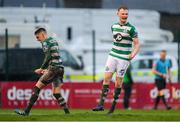 15 February 2020; Liam Scales, right, and Gary O'Neill of Shamrock Rovers celebrate at the final whistle of the SSE Airtricity League Premier Division match between Bohemians and Shamrock Rovers at Dalymount Park in Dublin. Photo by Seb Daly/Sportsfile