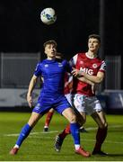 14 February 2020; Michael O'Connor of Waterford in action against Luke McNally of St Patrick's Athletic during the SSE Airtricity League Premier Division match between St Patrick's Athletic and Waterford at Richmond Park in Dublin. Photo by Sam Barnes/Sportsfile