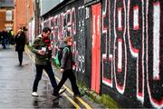 15 February 2020; Supporters arrive at Dalymount Park prior to the SSE Airtricity League Premier Division match between Bohemians and Shamrock Rovers at Dalymount Park in Dublin. Photo by Stephen McCarthy/Sportsfile
