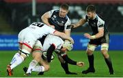 15 February 2020; Luke Marshall of Ulster is tackled by Bradley Davies of Ospreys during the Guinness PRO14 Round 11 match between Ospreys and Ulster at Liberty Stadium in Swansea, Wales. Photo by Darren Griffiths/Sportsfile