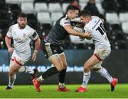 15 February 2020; Billy Burns of Ulster is tackled by Owen Watkin of Ospreys during the Guinness PRO14 Round 11 match between Ospreys and Ulster at Liberty Stadium in Swansea, Wales. Photo by Gareth Everett/Sportsfile