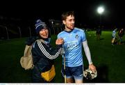 15 February 2020; Seán Moran of Dublin is congratulated by supporter Chizuru Ryan following the Allianz Hurling League Division 1 Group B Round 3 match between Carlow and Dublin at Netwatch Cullen Park in Carlow. Photo by David Fitzgerald/Sportsfile