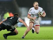 15 February 2020; Matt Faddes of Ulster in action against Scott Otten of Ospreys during the Guinness PRO14 Round 11 match between Ospreys and Ulster at Liberty Stadium in Swansea, Wales. Photo by Gareth Everett/Sportsfile