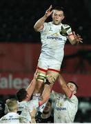 15 February 2020; David O'Connor of Ulster wins possession in the lineout during the Guinness PRO14 Round 11 match between Ospreys and Ulster at Liberty Stadium in Swansea, Wales. Photo by Darren Griffiths/Sportsfile