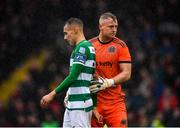 15 February 2020; Graham Burke of Shamrock Rovers and James Talbot of Bohemians during the SSE Airtricity League Premier Division match between Bohemians and Shamrock Rovers at Dalymount Park in Dublin. Photo by Seb Daly/Sportsfile