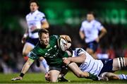 15 February 2020; Kieran Marmion of Connacht is tackled by James Ratti of Cardiff Blues during the Guinness PRO14 Round 11 match between Connacht and Cardiff Blues at the Sportsground in Galway. Photo by Eóin Noonan/Sportsfile