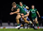 15 February 2020; Kyle Godwin of Connacht is tackled by Olly Robinson of Cardiff Blues during the Guinness PRO14 Round 11 match between Connacht and Cardiff Blues at the Sportsground in Galway. Photo by Eóin Noonan/Sportsfile