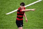 12 February 2020; Ross Jacob of Kilkenny College during the Bank of Ireland Leinster Schools Senior Cup Second Round match between Kilkenny College and Newbridge College at Energia Park in Dublin. Photo by Piaras Ó Mídheach/Sportsfile