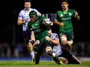 15 February 2020; Niyi Adeolokun of Connacht is tackled by Jason Tovey of Cardiff Blues during the Guinness PRO14 Round 11 match between Connacht and Cardiff Blues at the Sportsground in Galway. Photo by Eóin Noonan/Sportsfile