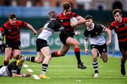 12 February 2020; Adam Strong of Kilkenny College is tackled by Donal Conroy of Newbridge College during the Bank of Ireland Leinster Schools Senior Cup Second Round match between Kilkenny College and Newbridge College at Energia Park in Dublin. Photo by Piaras Ó Mídheach/Sportsfile