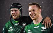 15 February 2020; Eoin McKeon, left, and Shane Delahunt of Connacht following the Guinness PRO14 Round 11 match between Connacht and Cardiff Blues at the Sportsground in Galway. Photo by Eóin Noonan/Sportsfile