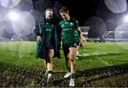 15 February 2020; Peter Robb, left, and Kyle Godwin of Connacht following the Guinness PRO14 Round 11 match between Connacht and Cardiff Blues at the Sportsground in Galway. Photo by Sam Barnes/Sportsfile