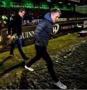 15 February 2020; Corofin's Kieran Fitzgerald steps onto the pitch, with manager Kevin O'Brien, at half-time of the Guinness PRO14 Round 11 match between Connacht and Cardiff Blues at the Sportsground in Galway. Photo by Sam Barnes/Sportsfile