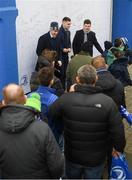 15 February 2020; Leinster players Conor O'Brien, Garry Ringrose and Hugh O'Sullivan in Autograph Alley at the Guinness PRO14 Round 11 match between Leinster and Toyota Cheetahs at the RDS Arena in Dublin. Photo by Ramsey Cardy/Sportsfile