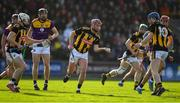 16 February 2020; Ciaran Wallace passes the sliothar to team-mate John Donnelly of Kilkenny during the Allianz Hurling League Division 1 Group B Round 3 match between Wexford and Kilkenny at Chadwicks Wexford Park in Wexford. Photo by Ray McManus/Sportsfile